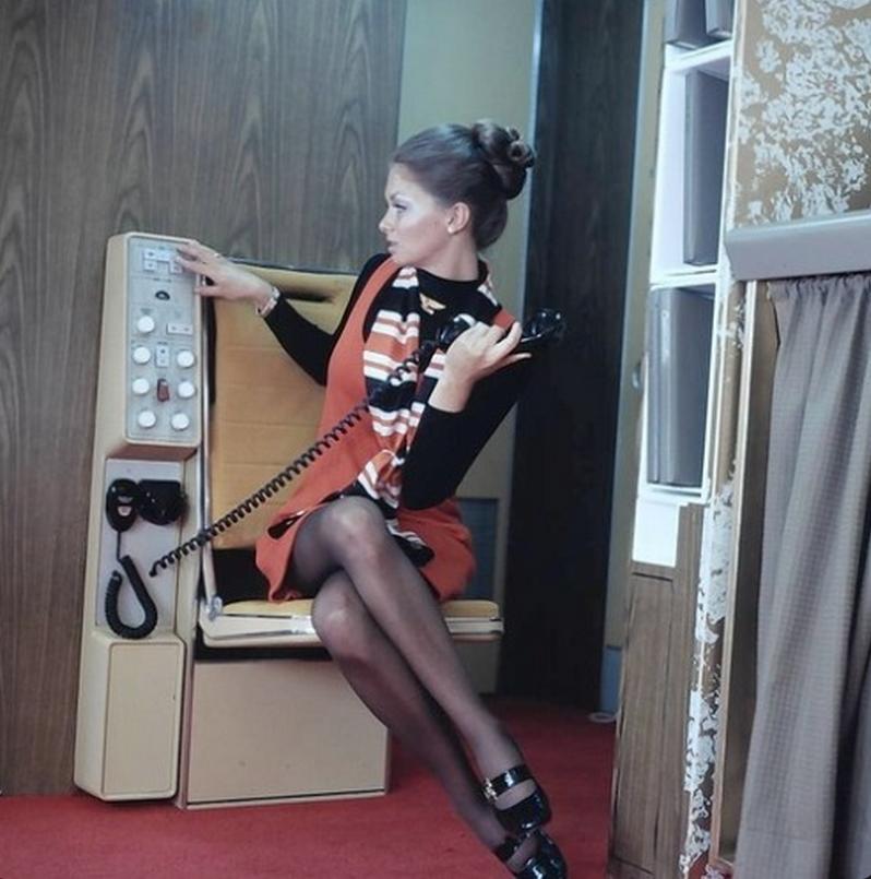 1970s flight attendant