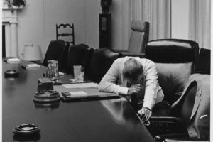lyndon-johnson-listens-to-tape-from-son-in-vietnam